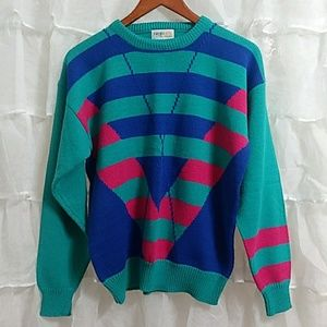 Vtg. 90s IZOD Acrylic Crew Neck Sweater Women LG